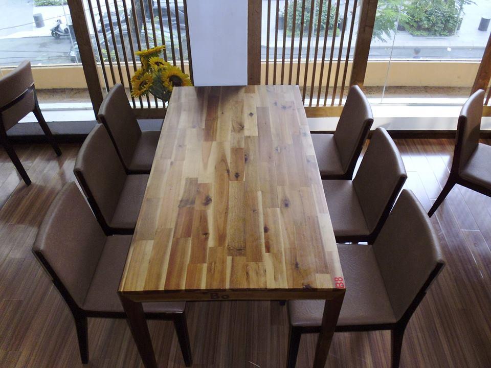 Thanh lý bàn ghế gỗ dài nhà hàng 0216