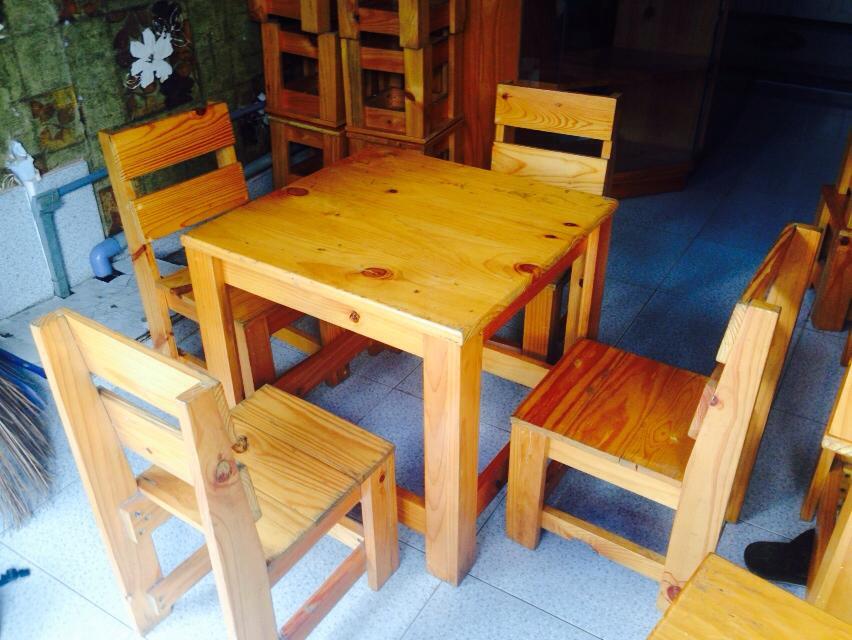 Thanh lý bàn ghế cafe gỗ cũ 0342