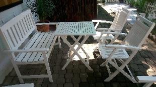 Thanh lý bàn ghế cafe trắng 0068