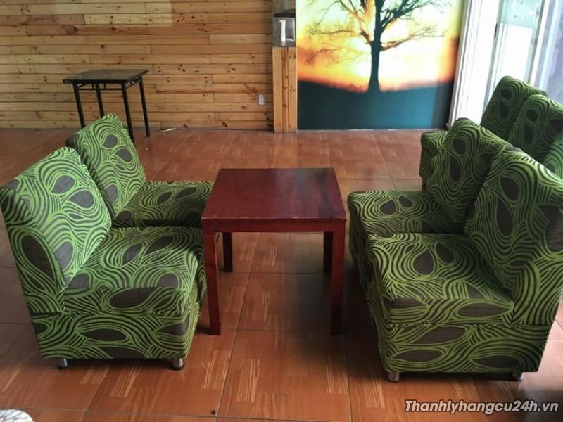 Bàn ghế sofa thanh lý màu xanh đen