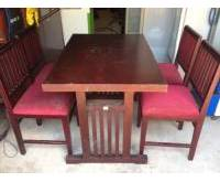 Bộ bàn ghế nhà hàng 4 ghế nệm 0507