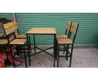 Thanh lý bàn ghế nhà hàng chân sắt 0320