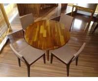 Thanh lý bàn ghế gỗ tròn nhà hàng 0217