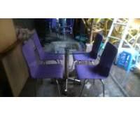 Thanh lý bàn ghế cafe màu tím 0066