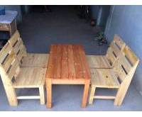 Thanh lý bàn ghế gỗ pallet 0065