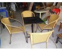 Thanh lý bàn ghế giả mây cafe 0189