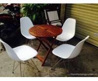 Mua bán bộ bàn ghế kiểu màu trắng