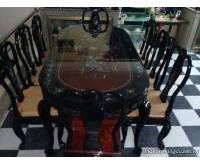 Thanh lý bộ bàn ăn cẩn trai 8 ghế