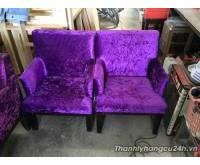 Thanh lý ghế sofa nhung tím