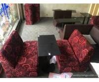 Sofa màu đỏ đen thanh lý